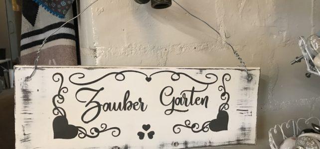 Holzschild: Zauber Garten
